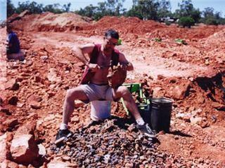 black opal mining