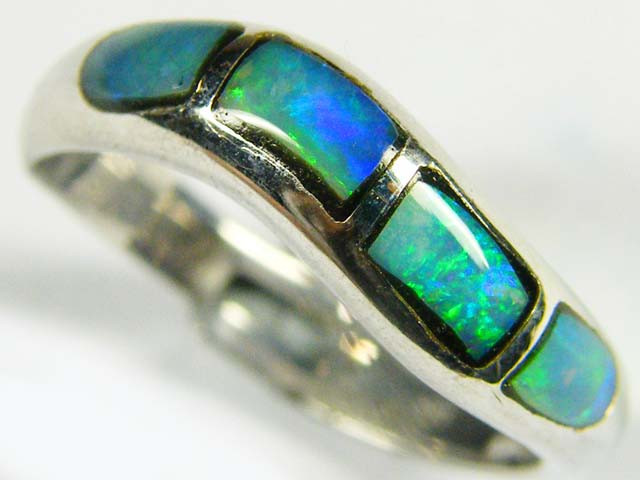 INLAY OPAL RINGS