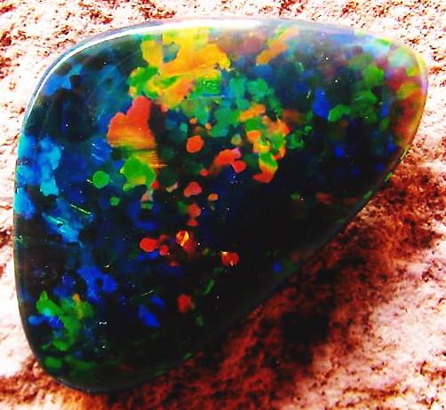 black opal mined at lightning ridge