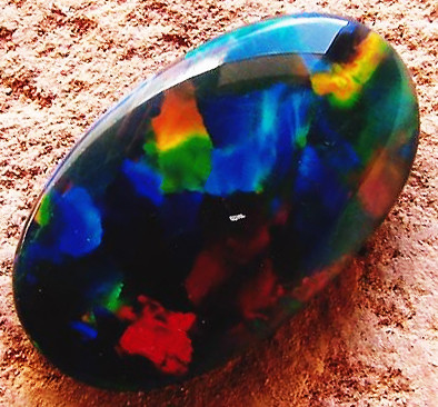 black opal red fire colors