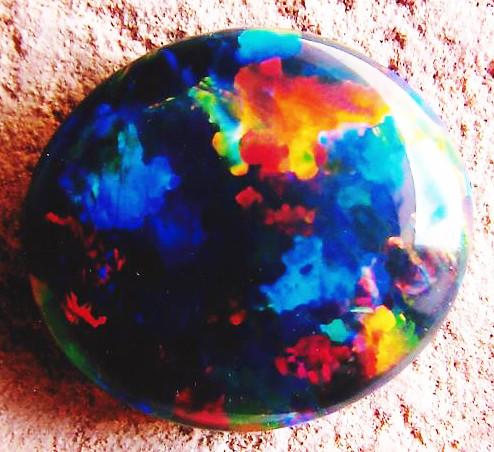 cutting and polishing black opal