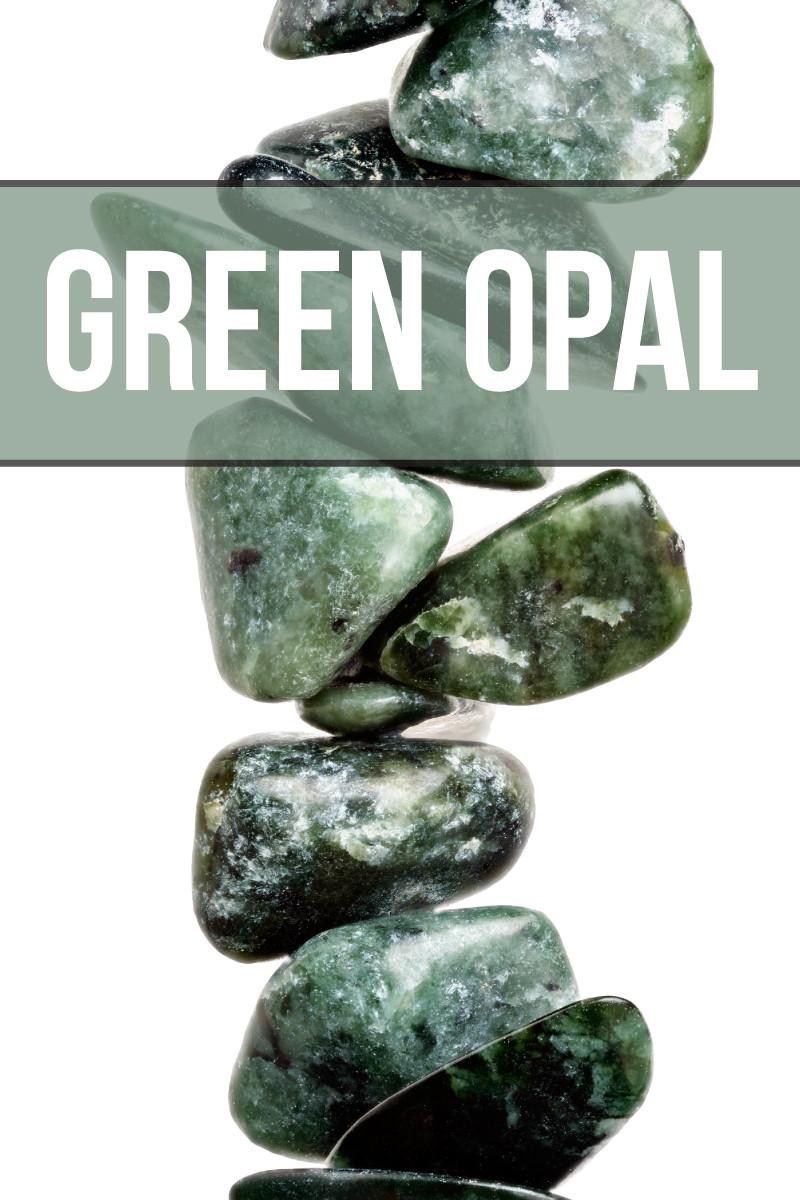 green opal gemstone