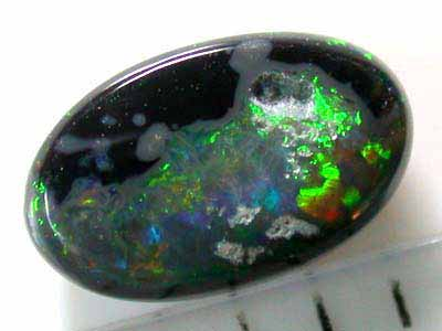 NATURAL LIGHTNING RIDGE -BLACK OPAL 0.65 CTS A1179