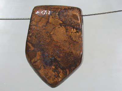 SOLID BOULDER OPAL BEAD R386