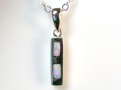 NEW OPAL STERLING SILVER INLAY PENDANT PL 725