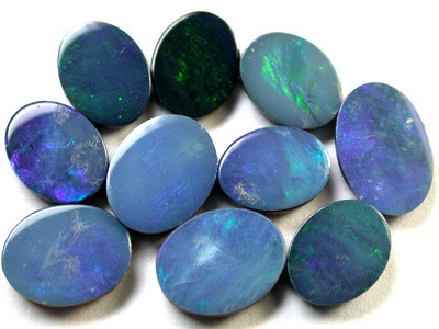 DEALERS  PARCEL BRIGHT MIXED DOUBLETS  OPALS  15   CTS R1086