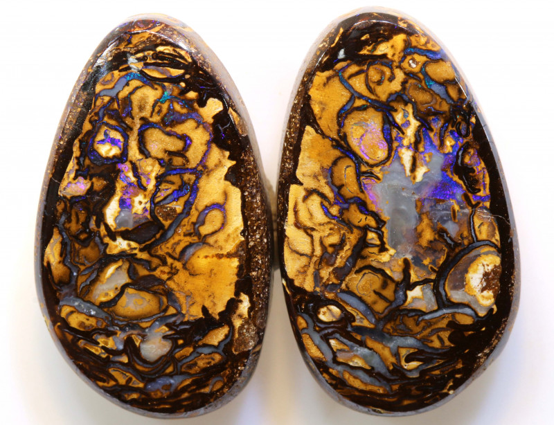 37.45 CTS  BOULDER OPAL PAIR   RO-1051