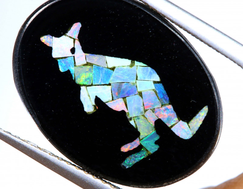 5.8 CTS MOSAIC OPAL INLAY CALIBERATED KANGAROO LO-6561