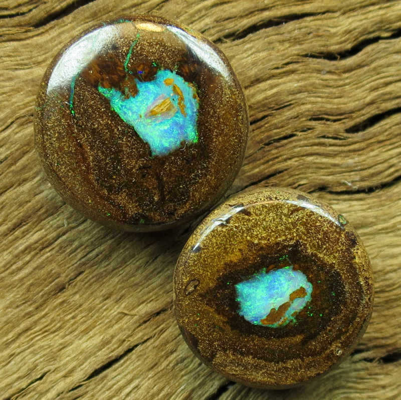 34cts, BOULDER PIPE OPAL~PAIR!