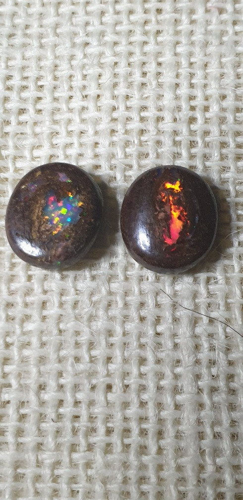 Boulder Opal  Pair from Jundah