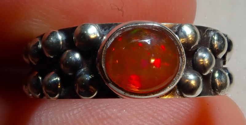 $1 NR Auction 6.7sz Natural Ethiopian Welo Opal .925 Sterling Silver