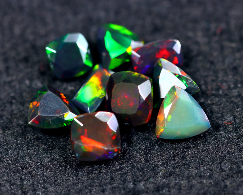 FACETED SMOKED WELO OPAL  8.71cts Parcel Lot  Opal / BF6127