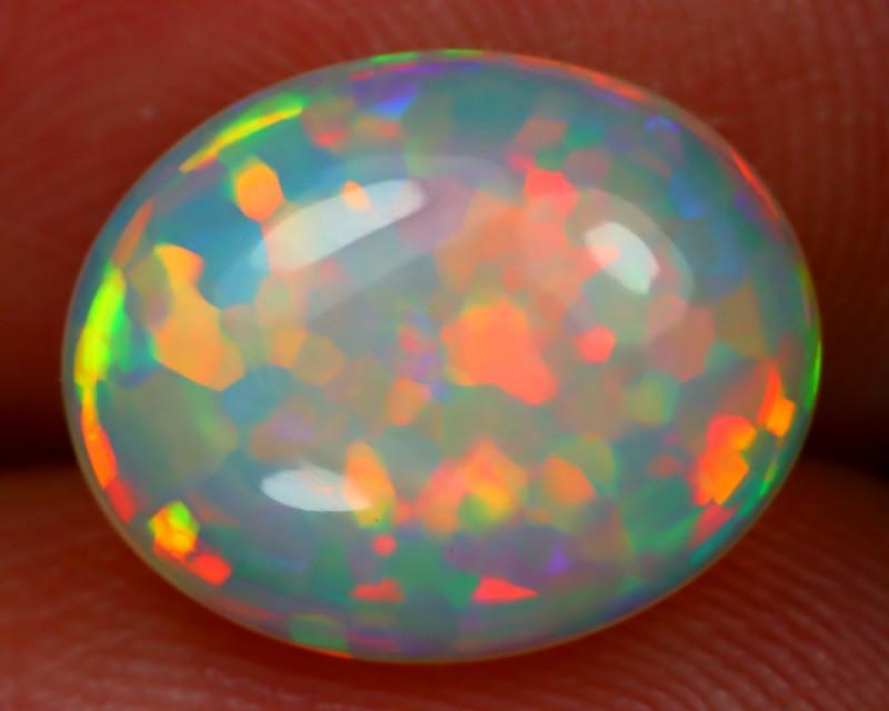 Welo Opal 3.07Ct Natural Ethiopian Play Of Color Welo Opal E0704