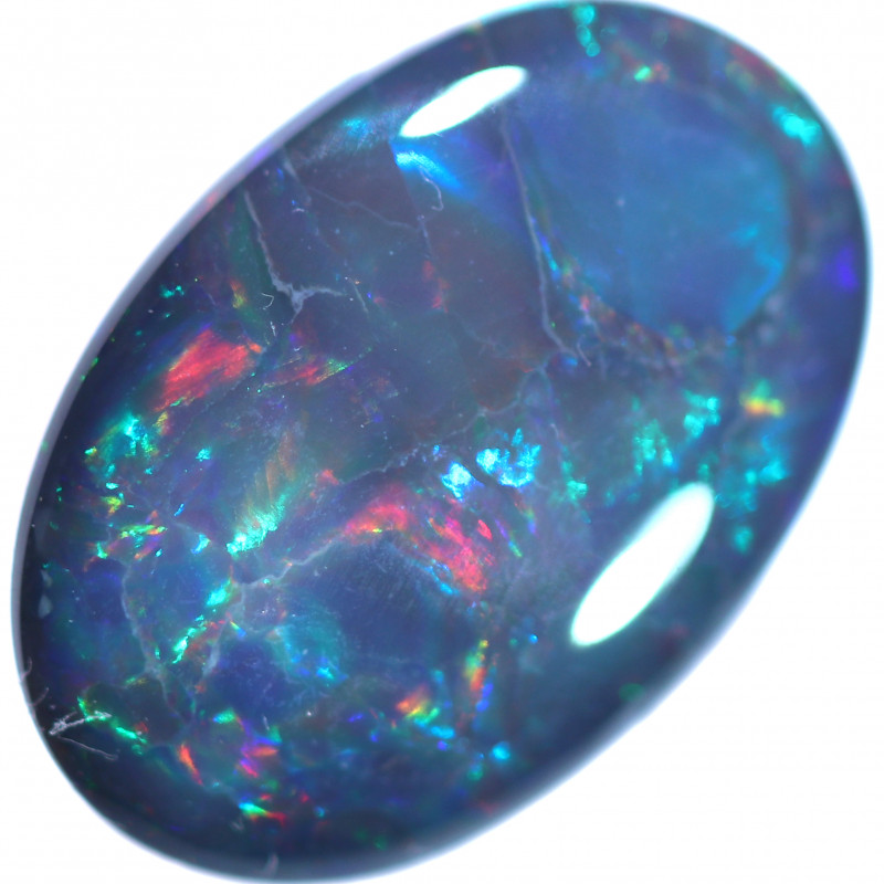 2.08 CTS BLACK OPAL STONE-FROM LIGHTNING RIDGE - [LRO1882]