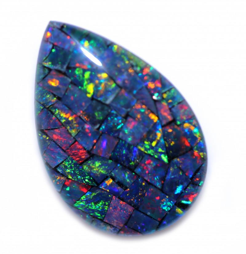Tear Drop Shape Mosaic Opal Triplet    CCC 1862