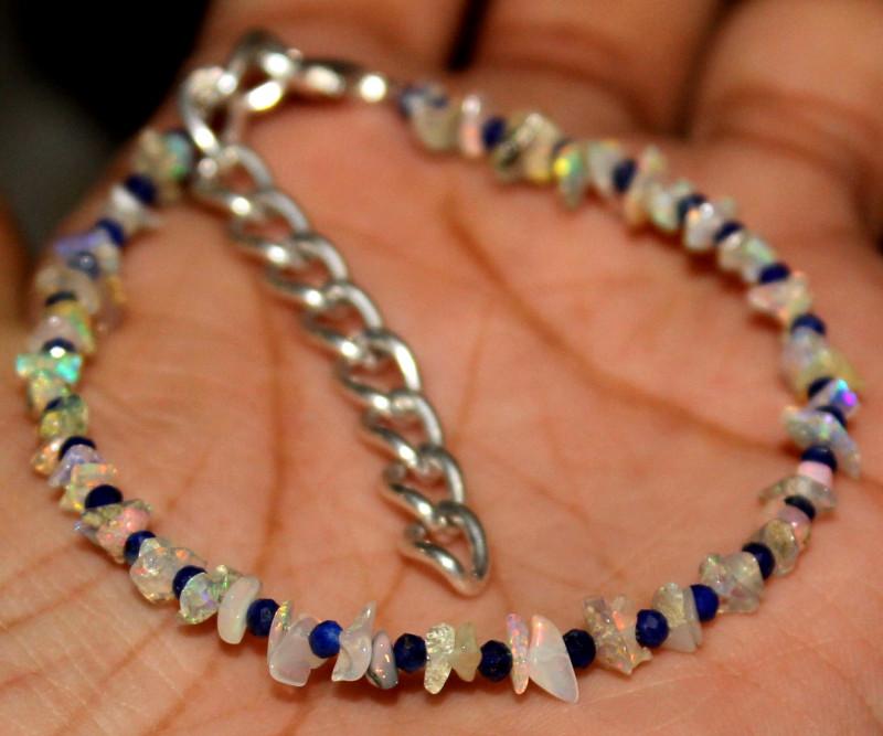 uncut opal & lapis bracelet 40