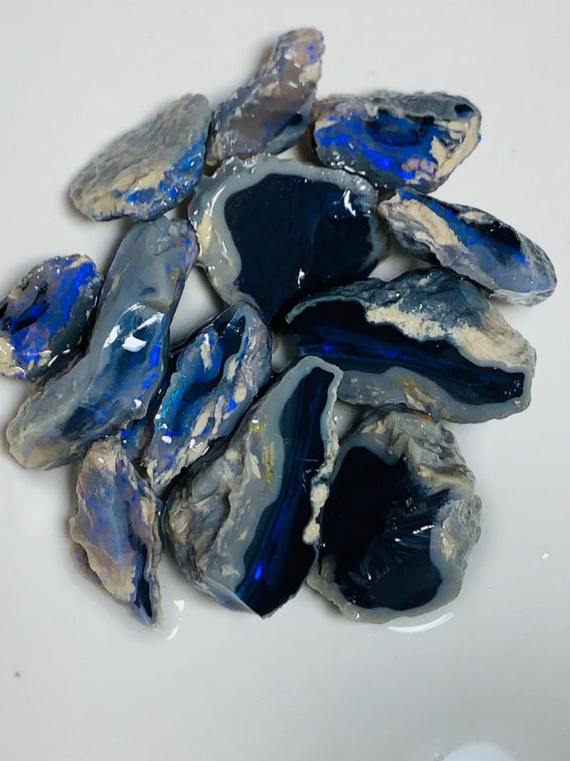 Black Nobby Opals - Bright Colour Bars, Lots of Splits
