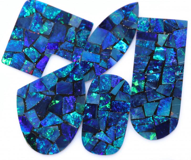 20.5 Cts parcel 5 pcs Opal Mosaic Doublet  CCC 2075