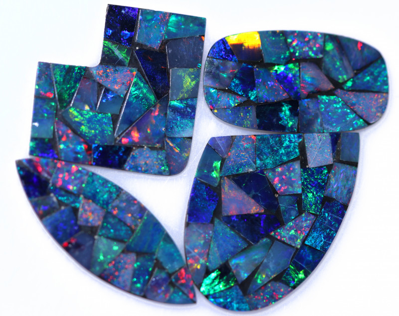 C14.3 ts parcel 4 pcs Opal Mosaic Doublet  CCC 2077