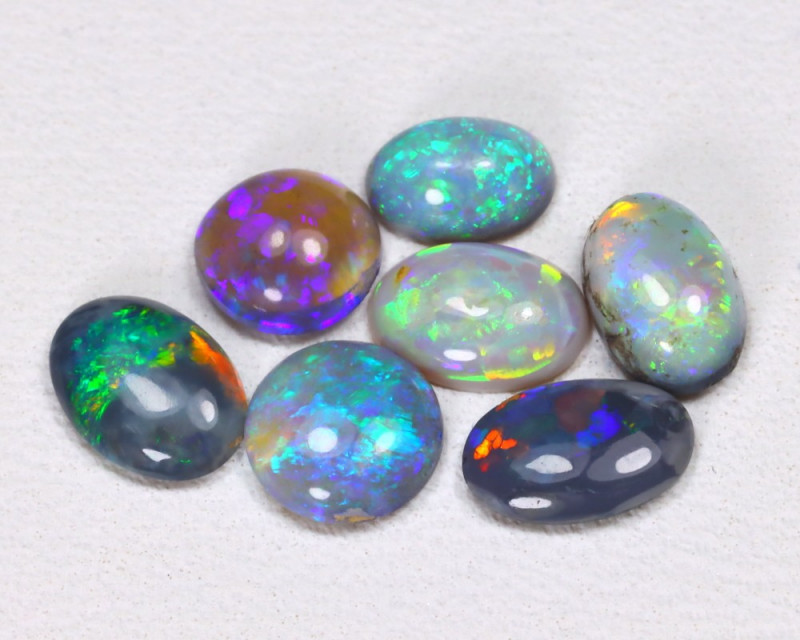 2.17 Cts Australian  Lightning Ridge Black & Semi black  Opals  CCC 2085