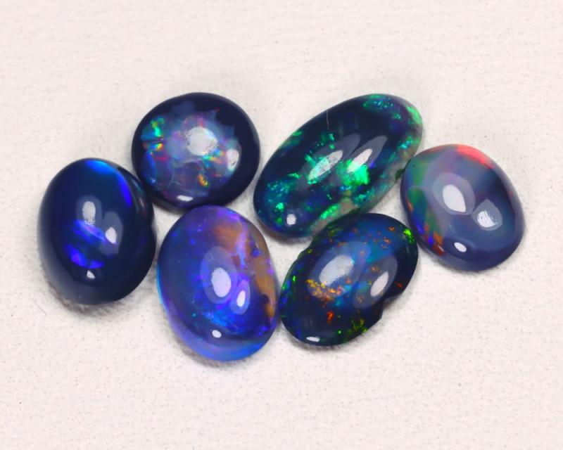 2.17 Cts   Lightning Ridge Black & Semi black  Opals  CCC 2111