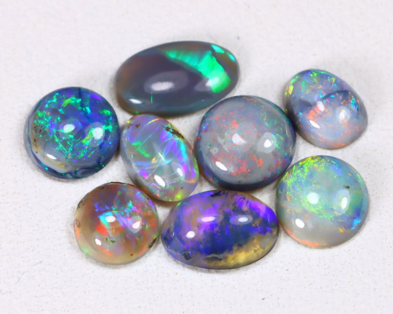 2.21 Cts   Lightning Ridge Black & Semi black  Opals  CCC 2114