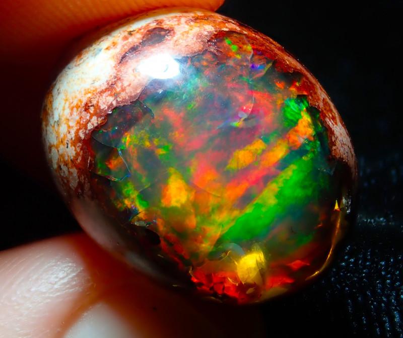 30 carats $1 NR Auction Mexican Matrix Cantera Multicoloured Fire Opal