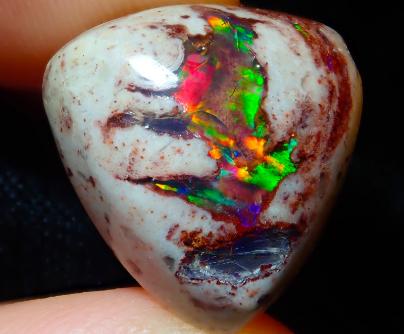 $1 NR Auction Mexican Matrix Cantera Multicoloured Fire Opal