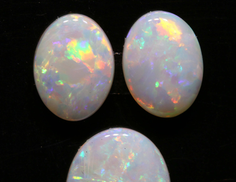 2.67 CTS  10 X 8  COOBER PEDY WHITE OPAL CUT PARCEL LO-6600