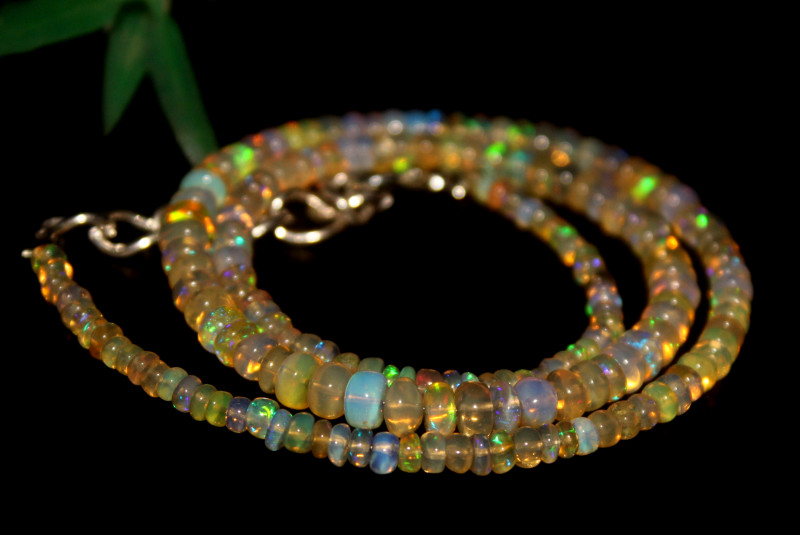 42 Crts Natural Ethiopian Welo Opal Beads Necklace 628
