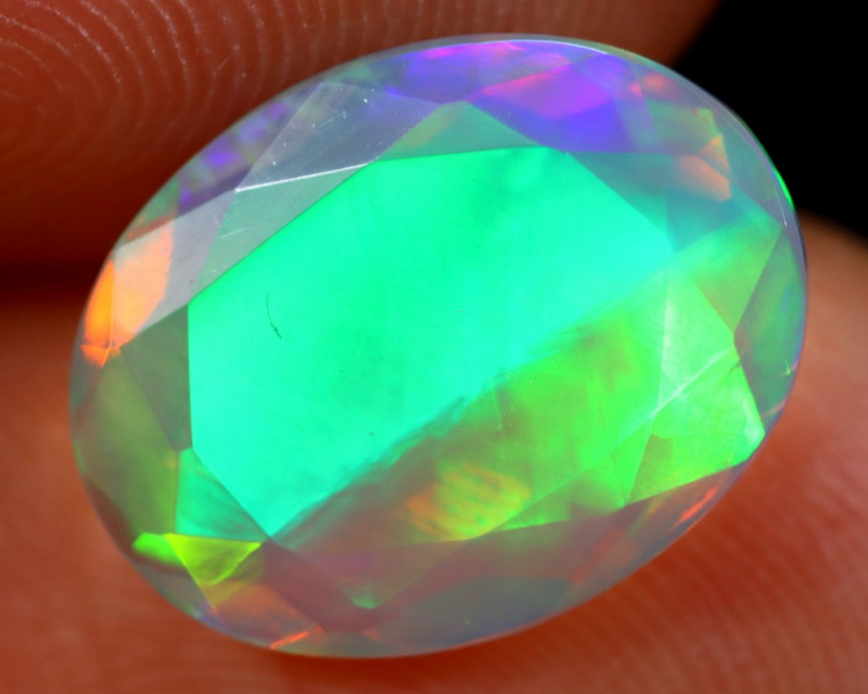 2.17cts Natural Ethiopian Faceted Welo Opal /BF6270