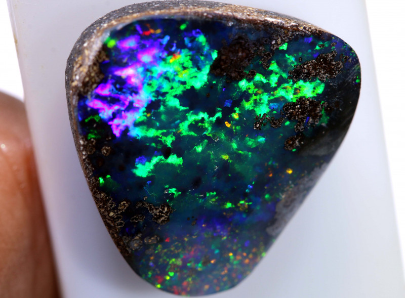 12.10 cts boulder opal polished cut stone  TBO-A3009