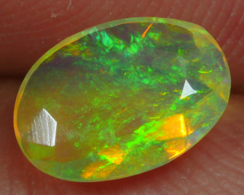 0.500 CRT BRILLIANT FACETED FLORAL WELO OPAL-