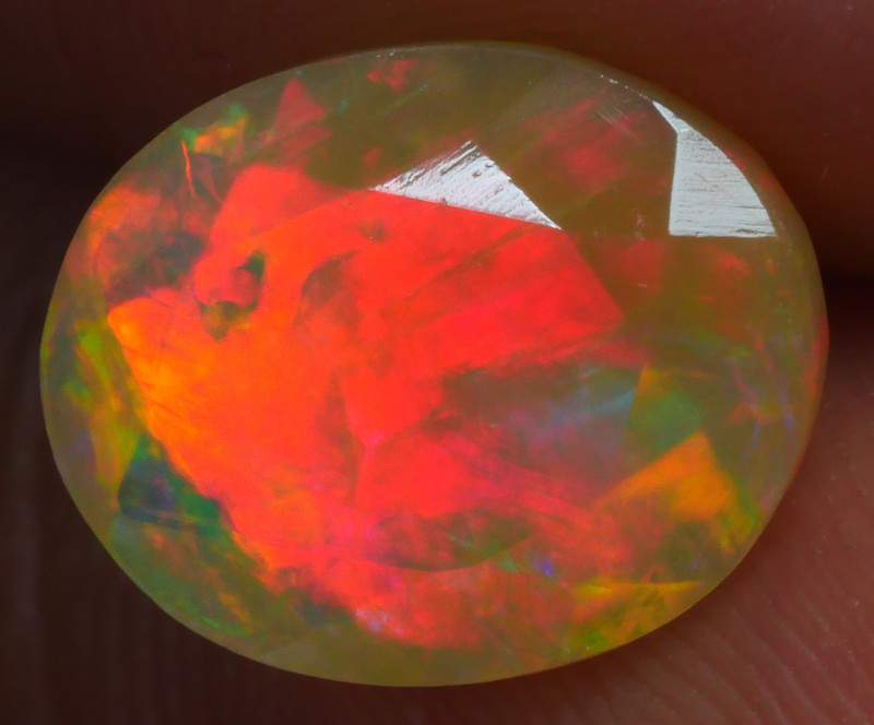 2.085 CRT GORGEUS FACETED BROADFLASH PEACOCK FIRE WELO OPAL-