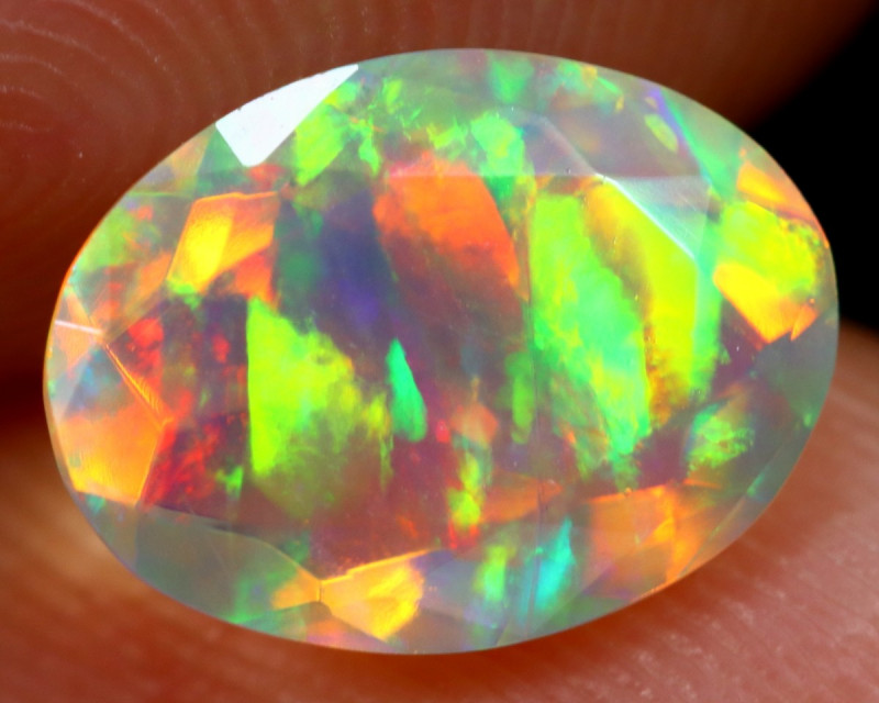 1.13cts Natural Ethiopian Faceted Welo Opal /BF6293