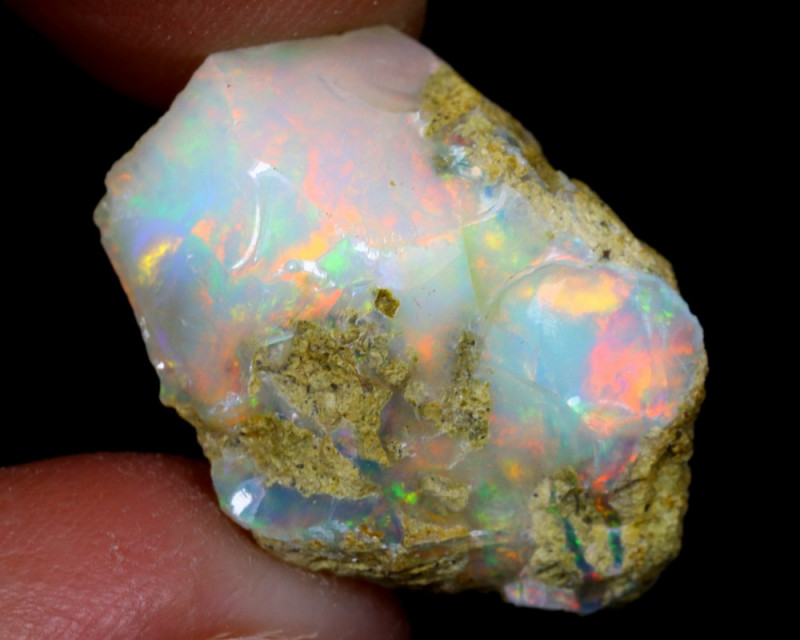 13cts Natural Ethiopian Welo Rough Opal / WR6872