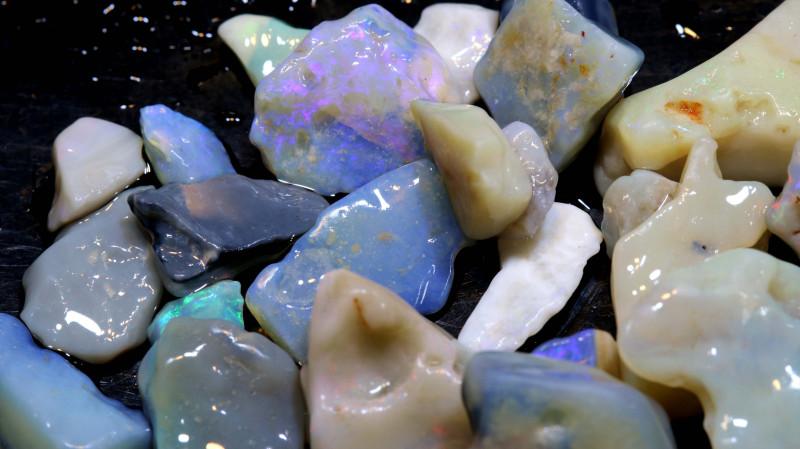 50cts lightning ridge opal rough parcel ado-7920