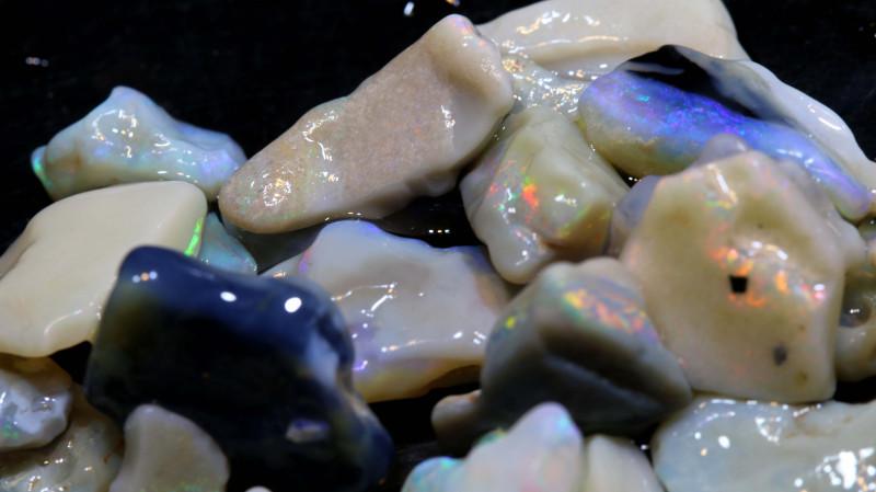 50cts lightning ridge opal rough parcel ado-7929