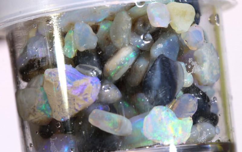 50cts lightning ridge opal chip jar ado-7953