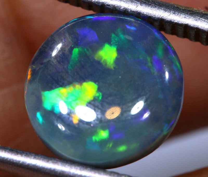N 4- 1.80 cts    high dome black opal stone lightning ridge TBO-A3050