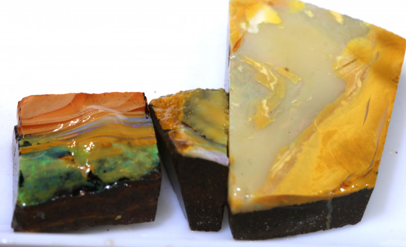 57.60 cts boulder opal  rub parcel ado-7949