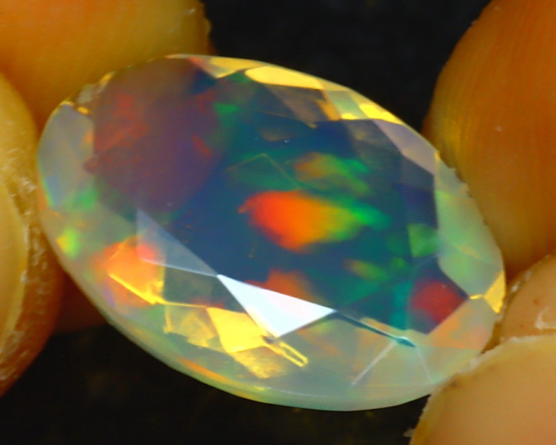 Welo Opal 1.91Ct Natural Ethiopian Play of Color Opal JR206/A44