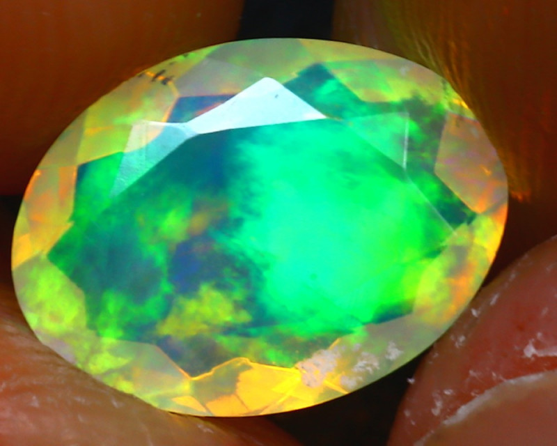 Welo Opal 1.55Ct Natural Ethiopian Play of Color Opal JR226/A44