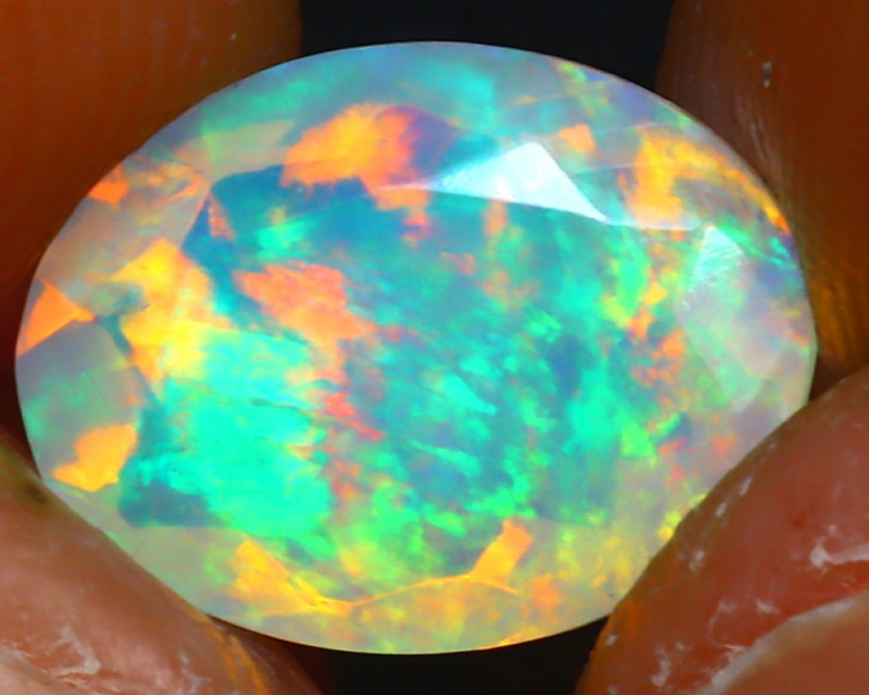 Welo Opal 1.52Ct Natural Ethiopian Play of Color Opal JR237/A44