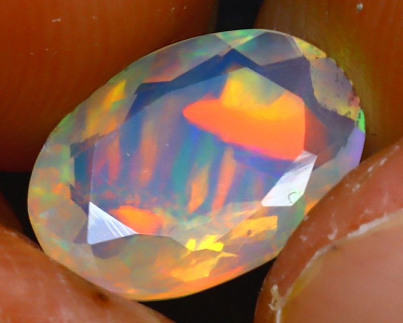 Welo Opal 1.37Ct Natural Ethiopian Play of Color Opal JR241/A44
