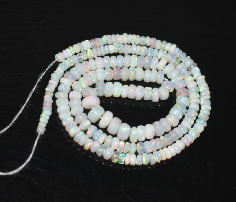 27.65 Ct Natural Ethiopian Welo Opal Beads Play Of Color OB274