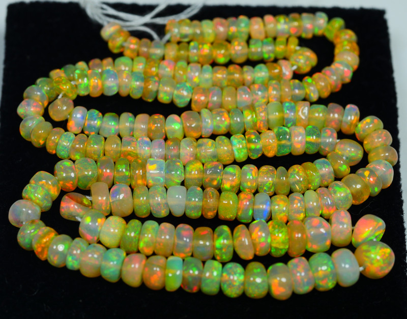 36.500 CRT BEAUTIFUL OPAL BEADS STRANDS FULL COLOR WELO OPAL-