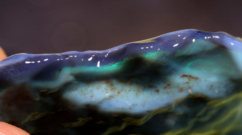 71.40cts lightning ridge black opal rough dt-a4625