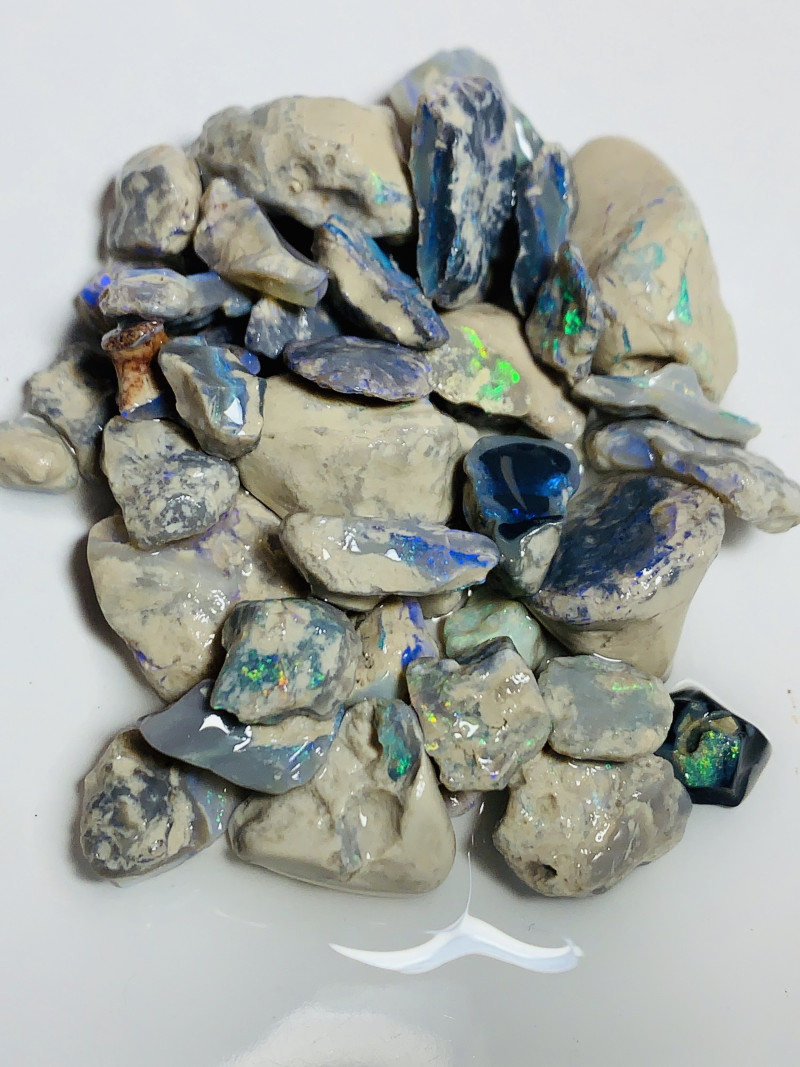 Nobby- Colourful Bright Rough Nobby Opals to Cut & Go Through#791