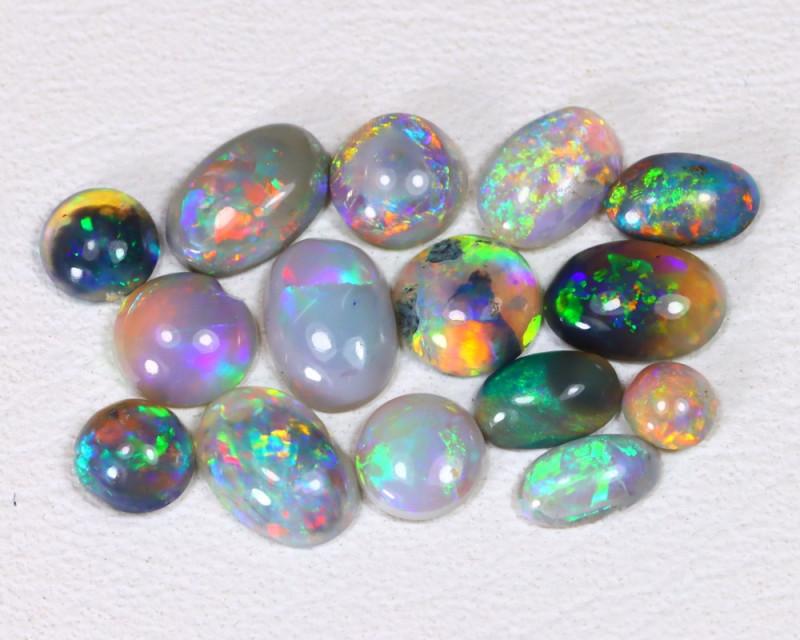 2.08ts Lightning idge Black & Semi black  Opals  CCC 2270